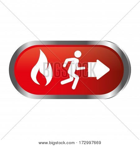 emergency route sign icon vector illustration design