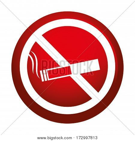 dont smoking signal icon vector illustration design