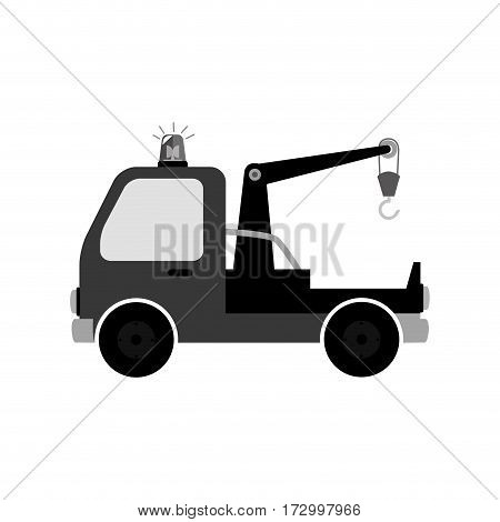 crane service isolated icon vector illustration design