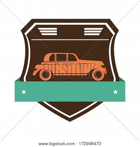 repair car service emblem vector illustration design