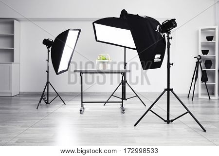 Modern photography studio for object shooting