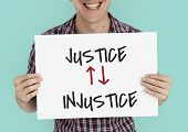 Justice Judge Law Moral Violence Injustice poster