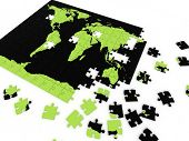 puzzle map of the world poster