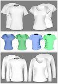 Vector illustration. T-shirt design template (men and women). poster