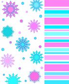 Artistic stars and stripes in pink and blue colors poster