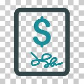 Invoice Page icon. Vector illustration style is flat iconic bicolor symbol, soft blue colors, transparent background. Designed for web and software interfaces. poster