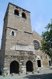 Catholic church of San Giusto Martire in Trieste Italy.