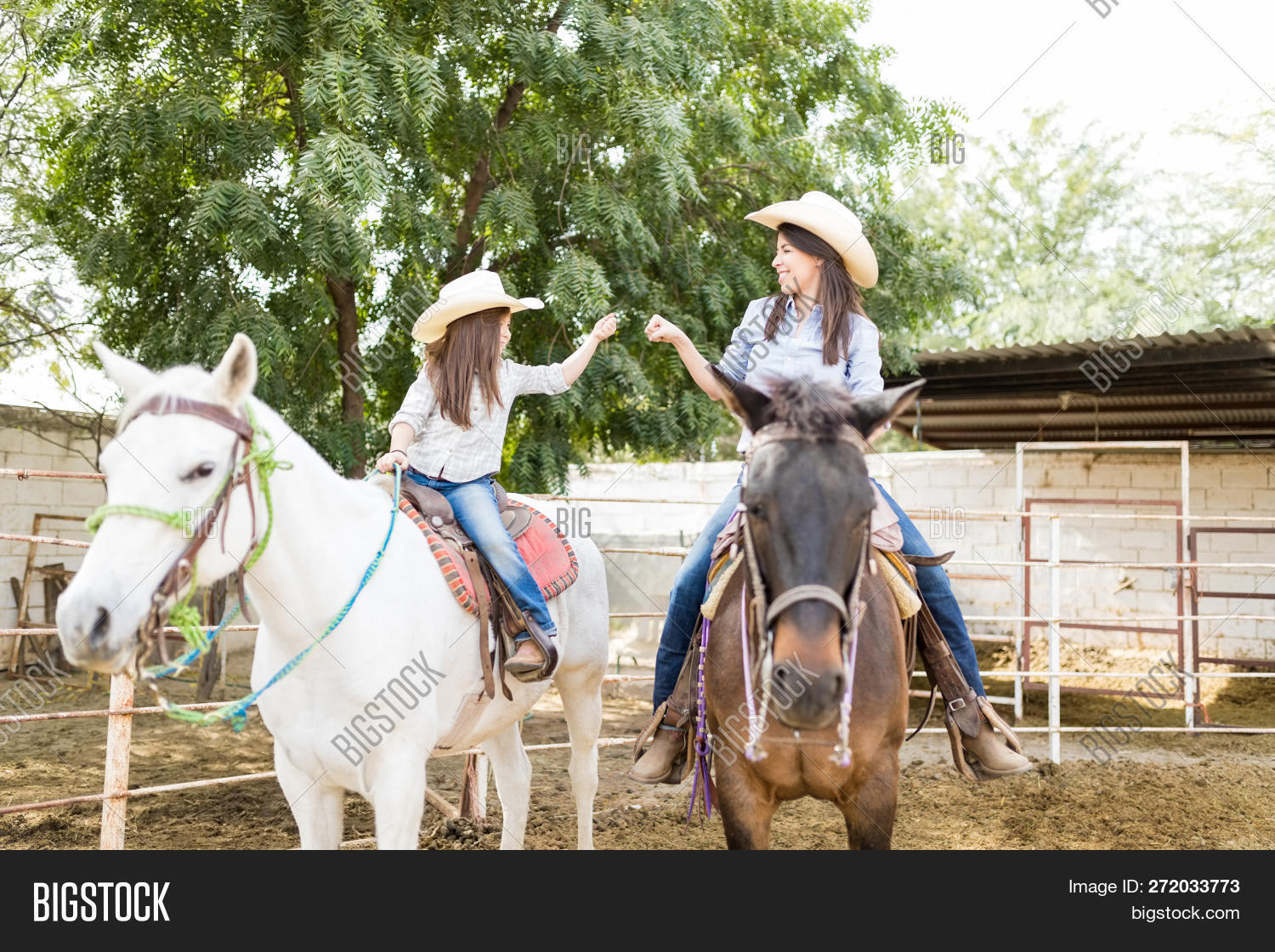 Mother Daughter Doing Image Photo Free Trial Bigstock