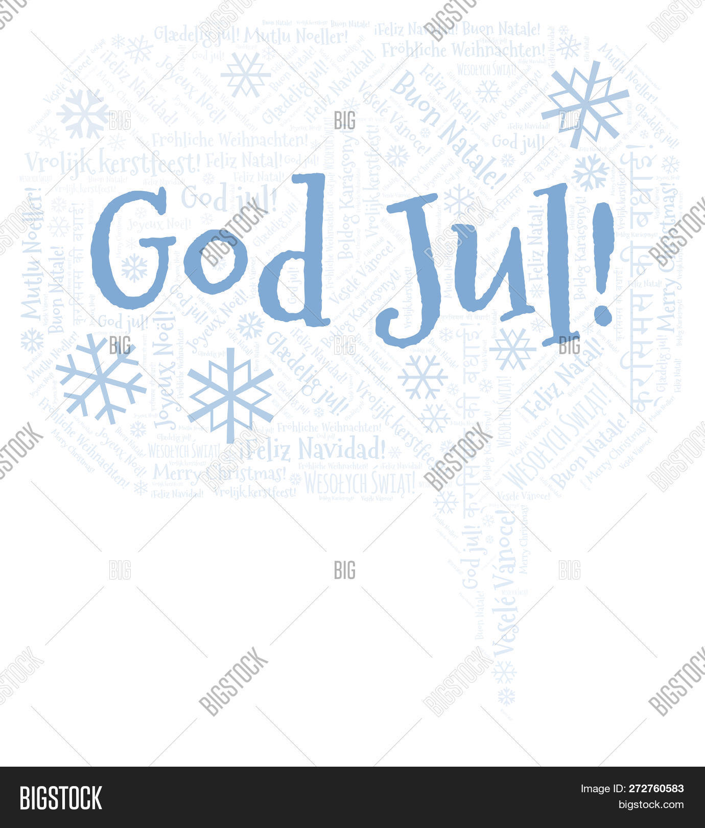 God Jul Word Cloud Image Photo Free Trial Bigstock