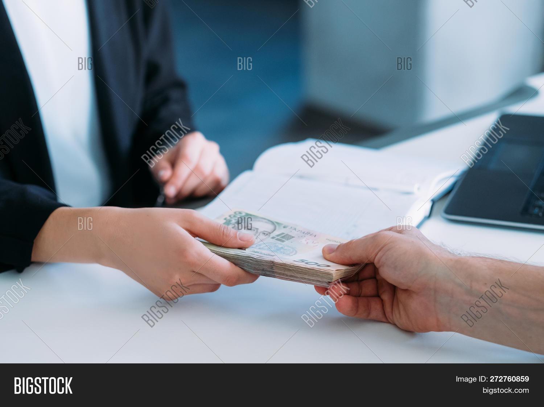 Woman Receiving Money Image & Photo (Free Trial) | Bigstock