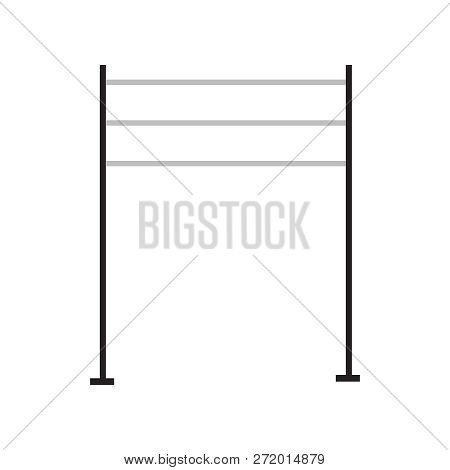 Clothes Racks And Stands. Vector Clothes Racks