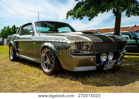Paaren Im Glien, Germany - May 19, 2018: Pony Car Shelby Cobra Gt500, (high-performance Version Of T