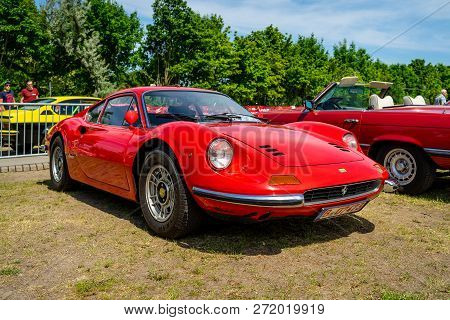 Paaren Im Glien, Germany - May 19, 2018: Sports Car Ferrari Dino 206 Gt, 1968. Die Oldtimer Show 201