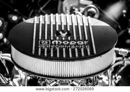 Paaren Im Glien, Germany - May 19, 2018: Car Part Mopar Performance. Mopar Is The Parts, Service And