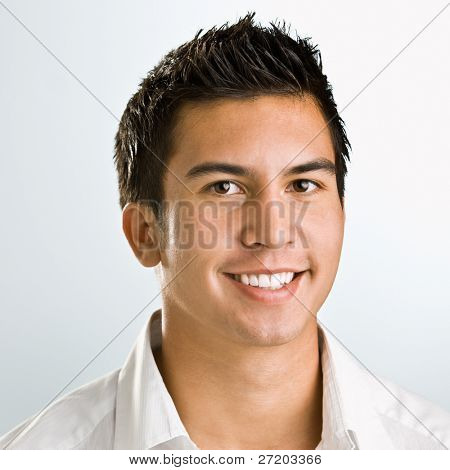 Asian man smiling