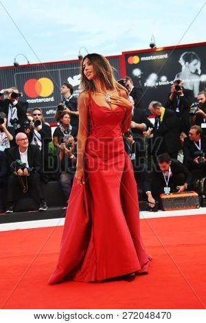 Madalina Ghenea walks the red carpet ahead of the 'The Sisters Brothers' screening during the 75th Venice Film Festival at Sala Grande on September 1, 2018 in Venice, Italy.