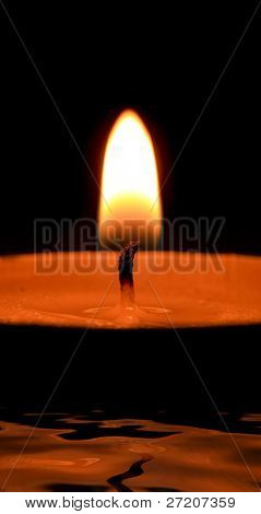 Candle light in the darkness