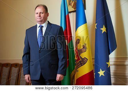 Azerbaijan, Baku - April 27, 2018: Ambassador George Leuke Portr