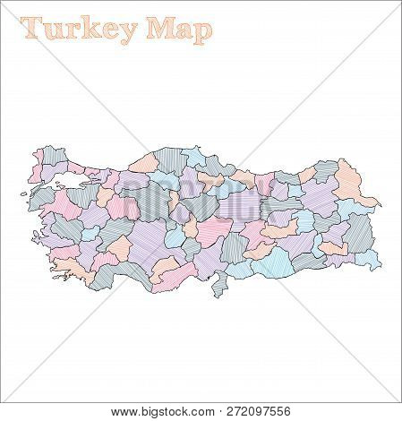 Turkey Hand-drawn Map Vector & Photo (Free Trial) | Bigstock