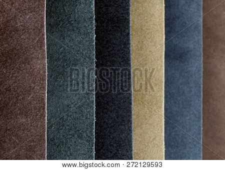 Leather variety shades of colors horizontal
