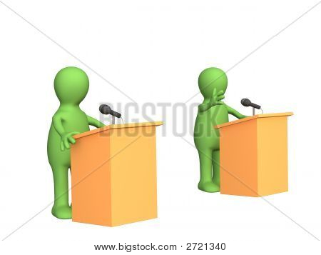 The 3D People - Puppets, Participating Political Debate