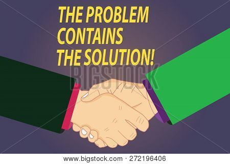 Text Sign Showing The Problem Contains The Solution. Conceptual Photo Solutions Are Inside The Troub