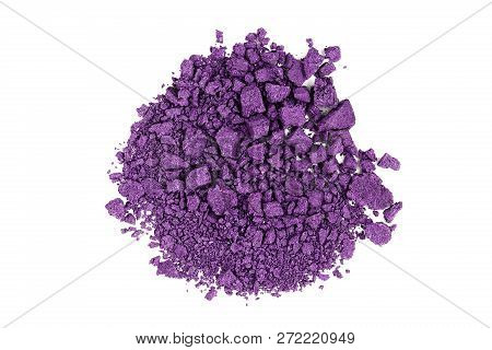 Closeup Of Crushed Purple Watercolor Paint Isolated
