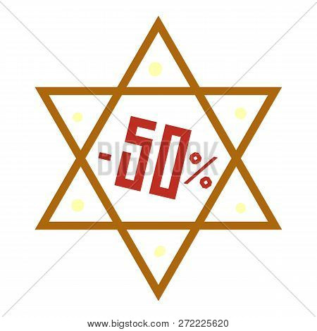 Final Hanukkah Sale Icon. Cartoon Of Final Hanukkah Sale Vector Icon For Web Design Isolated On Whit