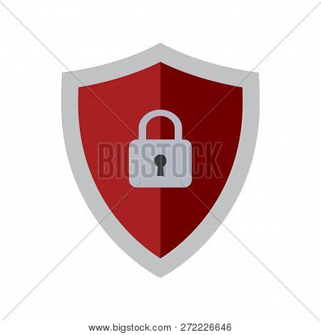 Abstract Security Vector Icon Isolated On White Background