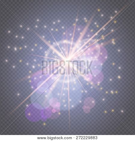 Light Effects Decorations For Typography, Web Online Concept.sparks Glitter Glowing, Star Burst Glow