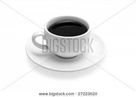 cup cofee isolated on white