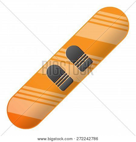 Modern Snowboard Icon. Cartoon Of Modern Snowboard Vector Icon For Web Design Isolated On White Back