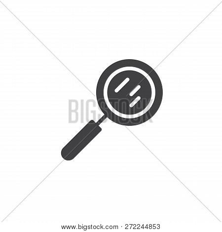 Magnifying Glass Vector Icon. Filled Flat Sign For Mobile Concept And Web Design. Magnifier Simple S