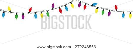 Christmas Fairy Lights Illustration.Colorful Christmas Vector Photo Free Trial Bigstock