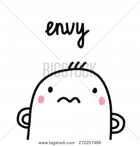 Envy Sin For Project Human Sins Humanity Illustration With Marshmallow For Prints Posters Articles P