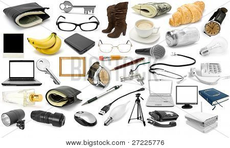 collection object isolated on a white background