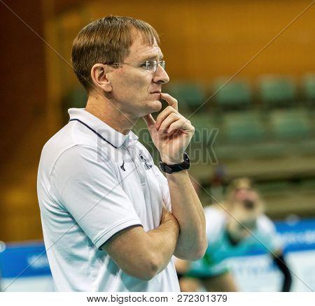 Odessa, Ukraine November 27, 2018: 2019 Cev Volleyball Cup - Women Southern Chemist (ukr) - Green, S