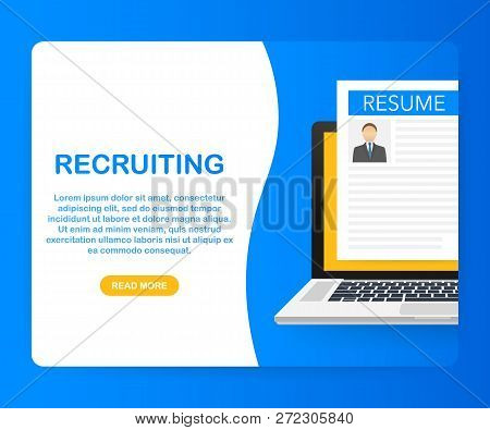Recruitment Concept. Hire Workers, Choice Employers Search Team For Job. Vector Stock Illustration.