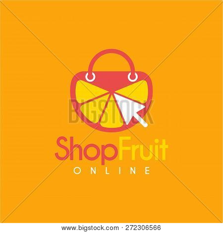 Vector Lemonade Online Shop Logo Design Template. Logo With Click Mouse 3d7b84f11c011