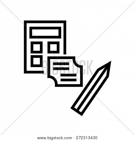 Calculator And Notes Icon Vector Isolated On White Background For Your Web And Mobile App Design
