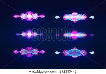 Personal Assistant Voice Recognition Concept. Artificial Intelligence Technologies. Sound Wave Logo