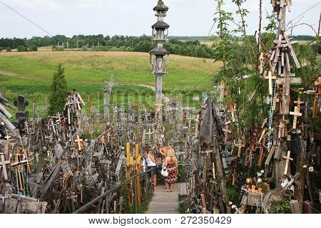 Shaululia, Lithuania - Circa 2010: Legendary And Holy Hill Of Crosses, Place Of Pilgrimage And Worsh