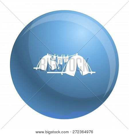 Homeless Tent Camp Icon. Simple Illustration Of Homeless Tent Camp Vector Icon For Web Design Isolat