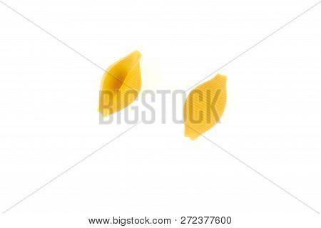 Conchiglioni Pasta , Isolated On A White Background.