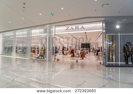 Bangkok, Thailand - November 2018 : Zara Opens Iconsiam Flagship Store In Iconsiam Department Store