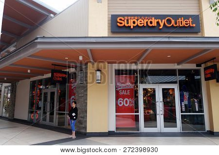 Genting Highlands, Malaysia- Dec 03, 2018 : Superdry Store At Genting Highlands Premium Outlets, Mal