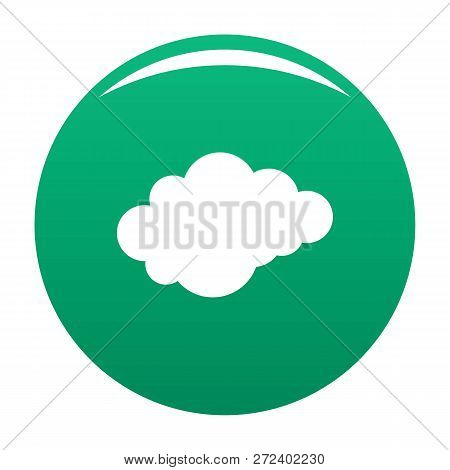Cloud With Downfall Icon. Simple Illustration Of Cloud With Downfall Icon For Any Design Green