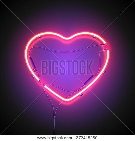 Heart Neon Sign Purple