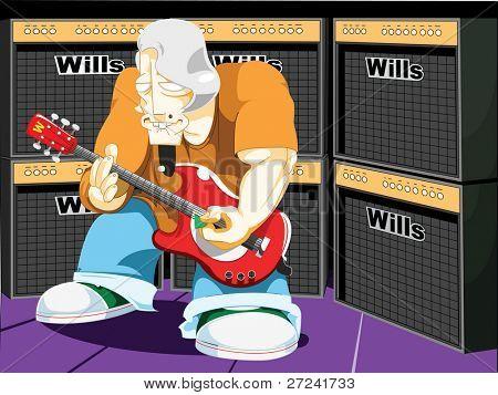 Grungy old rocker.