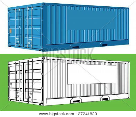 Cargo Container with space for company logo